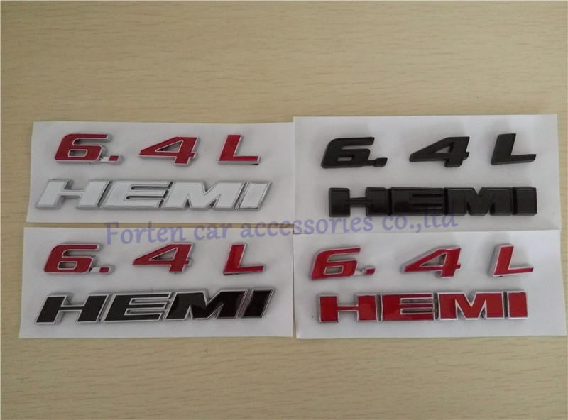 5pcs/lot Car New Styling Rear Badge For Dodge Challenger 6.4L Hemi Emblem Letter Sticker ABS Tail Logo(China (Mainland))