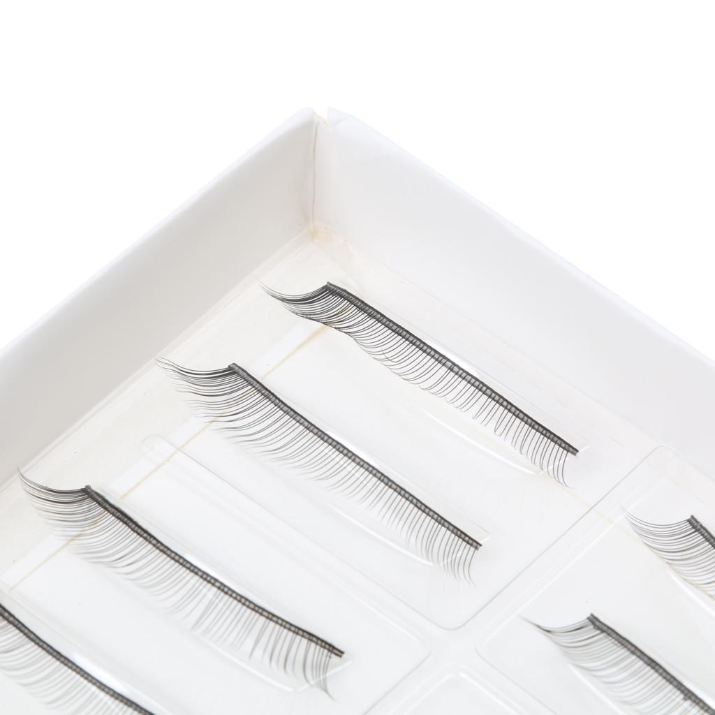 10 Pairs Handmade Fake False Eyelashes Eye Lashes Black 7MM Eyelashes Extension Eye Lash for Beginners Teaching