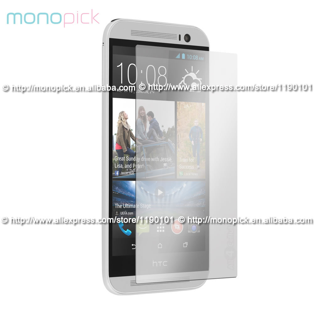 MONOPICK Premium Tempered Gorilla Glass Clear Screen Protector Film for HTC One M8 / M9(Hong Kong)