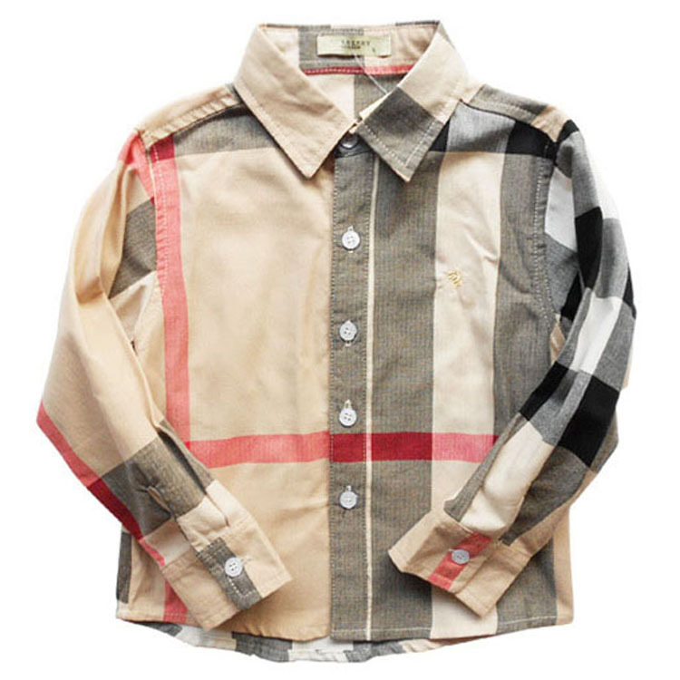 2015 new fashion boys shirts England style long sleeve kids clothes high quality plaid design children clothing hot selling(China (Mainland))