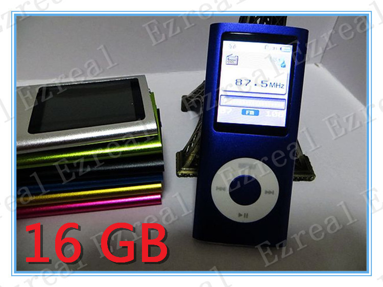 300pcs\lot 16GB 4th MP3/MP4 Player flash mp4 player With FM Radio+recorder+E-book full set hot sale(China (Mainland))