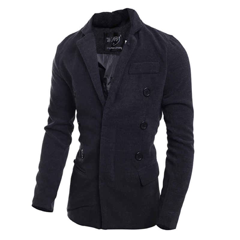 2015 Brand New men jacket fashion slim fit high quality autumn and winter mens cashmere coat men trench overcoat M-XXLОдежда и ак�е��уары<br><br><br>Aliexpress