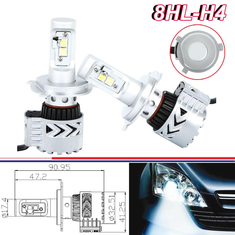 72w 12000lm cree h4 9003 hb2 led headlight bulb kit hi lo 6500k jeep gmc ford ebay. Black Bedroom Furniture Sets. Home Design Ideas