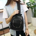 2016 New Trendy Fashion Backpack Dual purpose Small Bag Women Rivet Zipper Daypack Designer Casual Chest