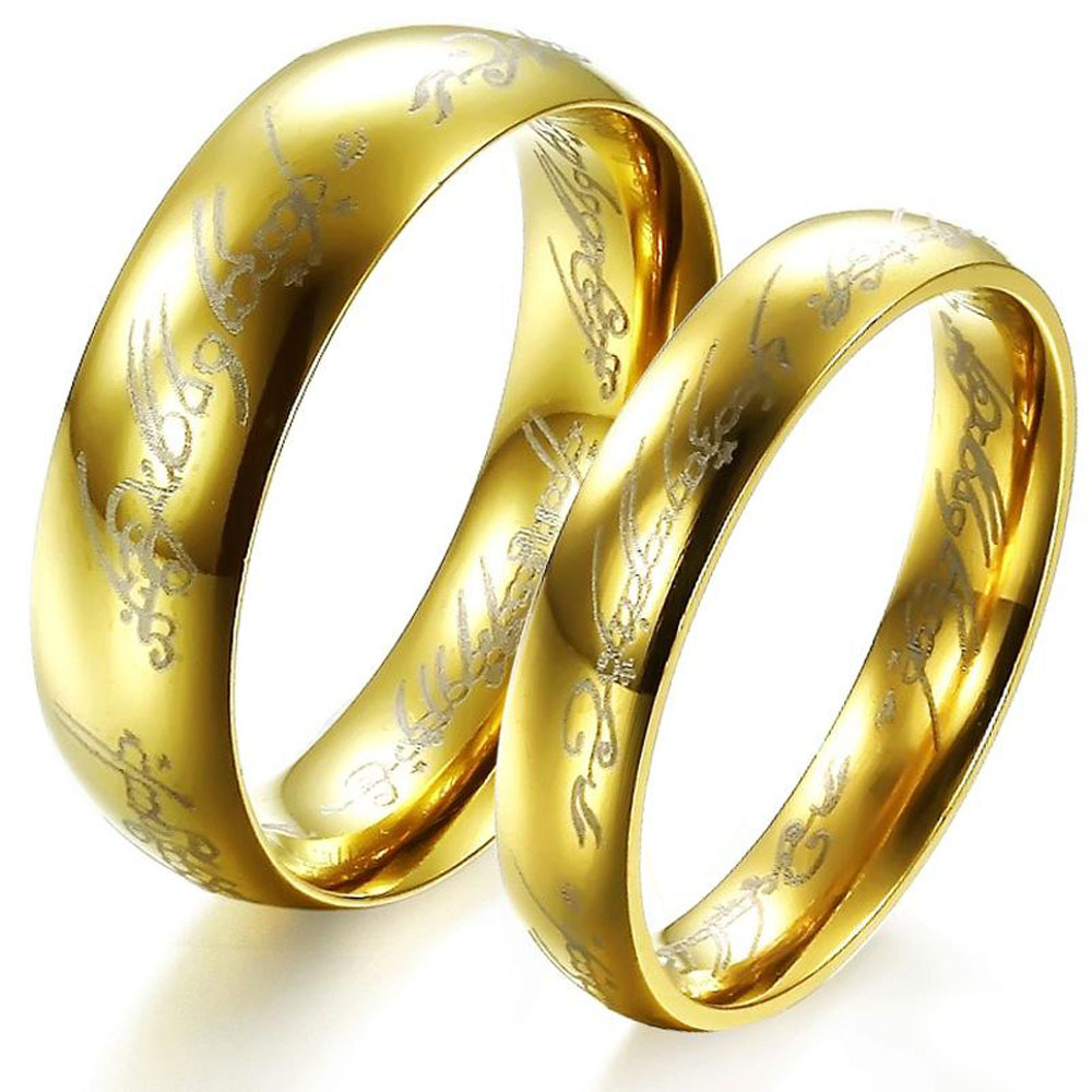 the lord of the rings stainless steel wedding ring amazon