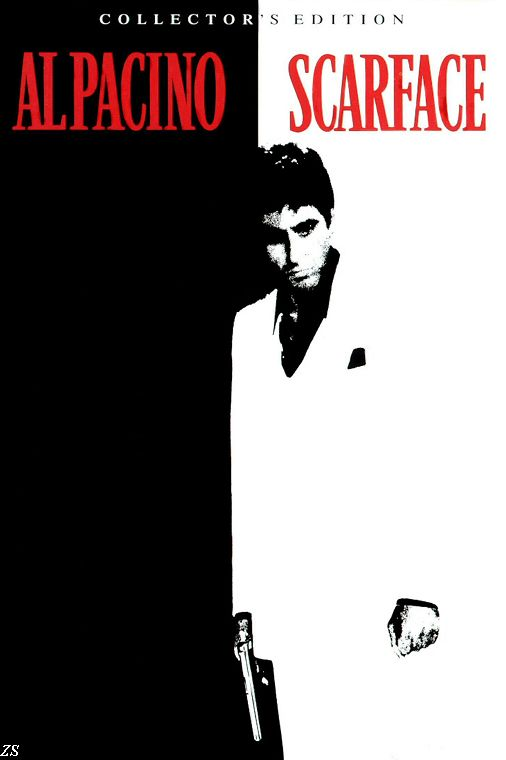 Al Pacino Black white poster Classic Gangster Films Scarface Silk PRINT Movie POSTER Home Room Decor Gift - Fabric & Canvas Poster Printing Store store