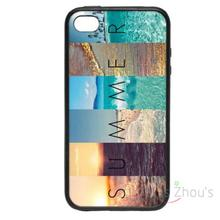 For iphone 4/4s 5/5s 5c SE 6/6s plus ipod touch 4/5/6 back skins mobile cellphone cases cover Summer Scenes
