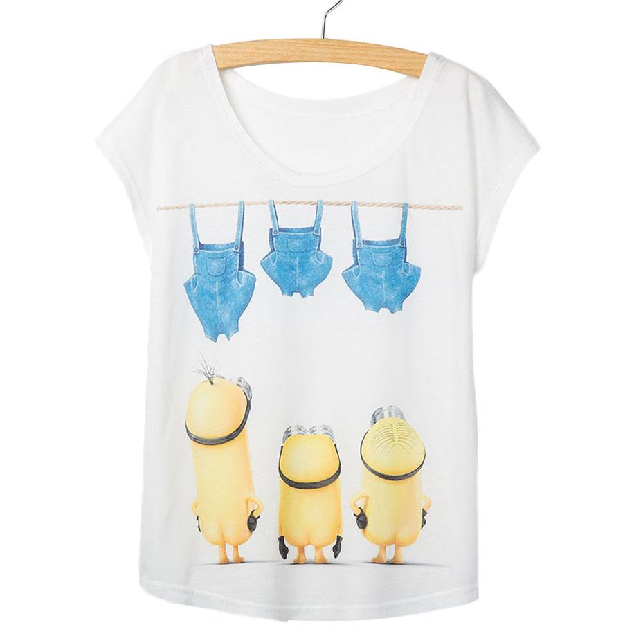 Fashion summer t shirt women despicable me white shirt for Cute summer t shirts