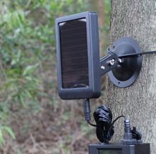 1500mAh Solar Panel Charger EU Plug Battery Power Bank for SUNTEK Hunting Cameras HC300 HC300M HC500 Series Scouting Camera(China (Mainland))