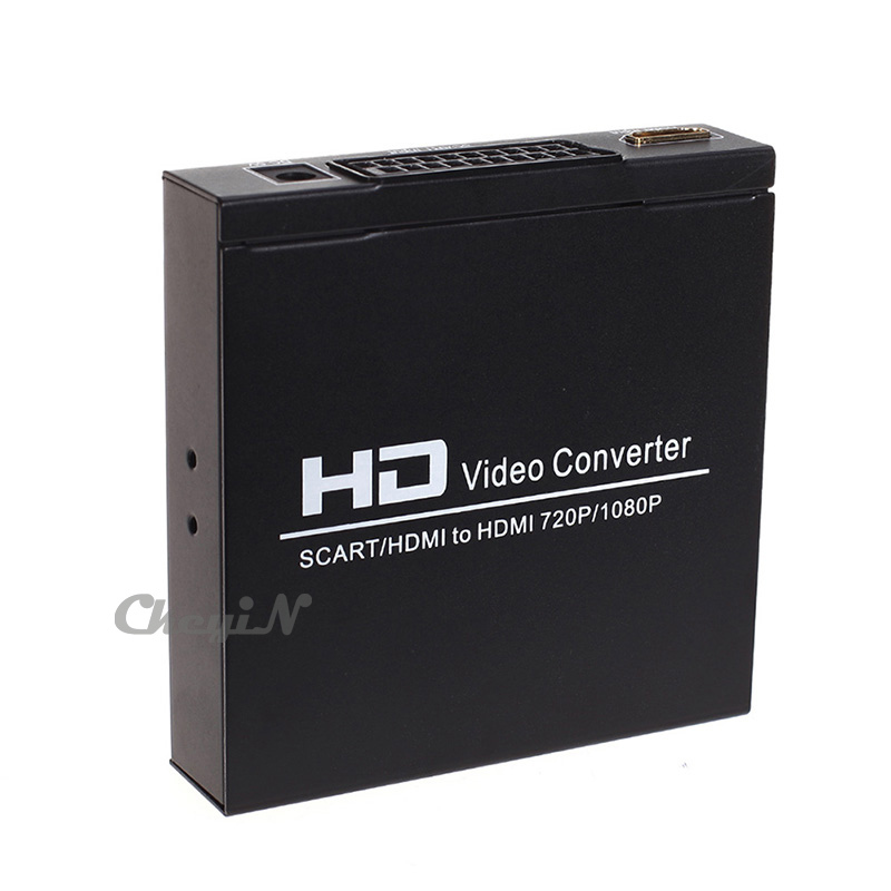 SCART / HDMI HD Video Converter RGB / NTSC(480I) / PAL(576I) To 720P/1080P Adapter Full HD 1080P Converter Adapter HD027 LR43(China (Mainland))