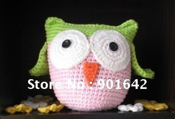 2012 New style Children Animal Crochet Toys,Animal Shape baby dolls,Boy and girl's Puppets, 20 pcs/lot Mix styles Free Shipping