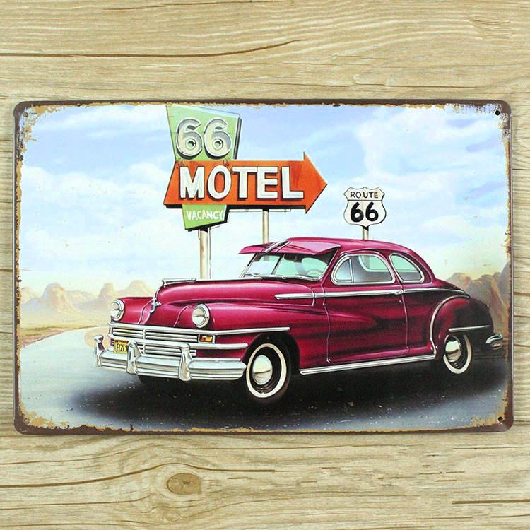 Metal Tin bar signs Iron poster painting Vintage wall art decor motel car bar home cafe mural 20*30 CM Free shipping YT-00293(China (Mainland))
