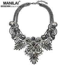 Buy Women Luxury Statement Choker Necklace Vintage Flower Design Rhinestones Maxi Big Necklaces & Pendants 2016 Fashion Jewelry for $8.79 in AliExpress store