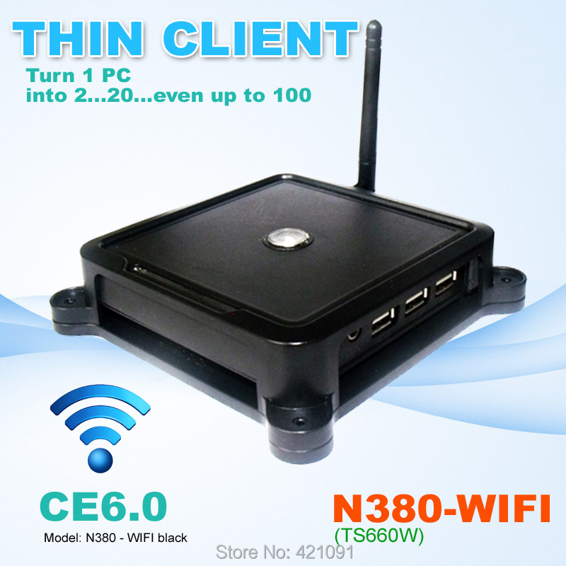 WIFI Network Cloud Terminal N380W ( TS660W ) MINI PC CE6.0 Thin Client Flash XP 2000 Server 2003 Windows 7 or 8 Linux supported(China (Mainland))