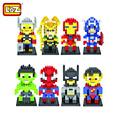LOZ Marvel DC Super Heroes Avengers Batman star wars air gun stickers playmobil enlighten decool jenga