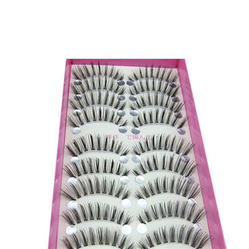 100Pair Natural False Eyelashes On Clusters Of Messy, Cross Super Realistic Fake Eyelashes For Building Cilios Posticos Wimpers(China (Mainland))