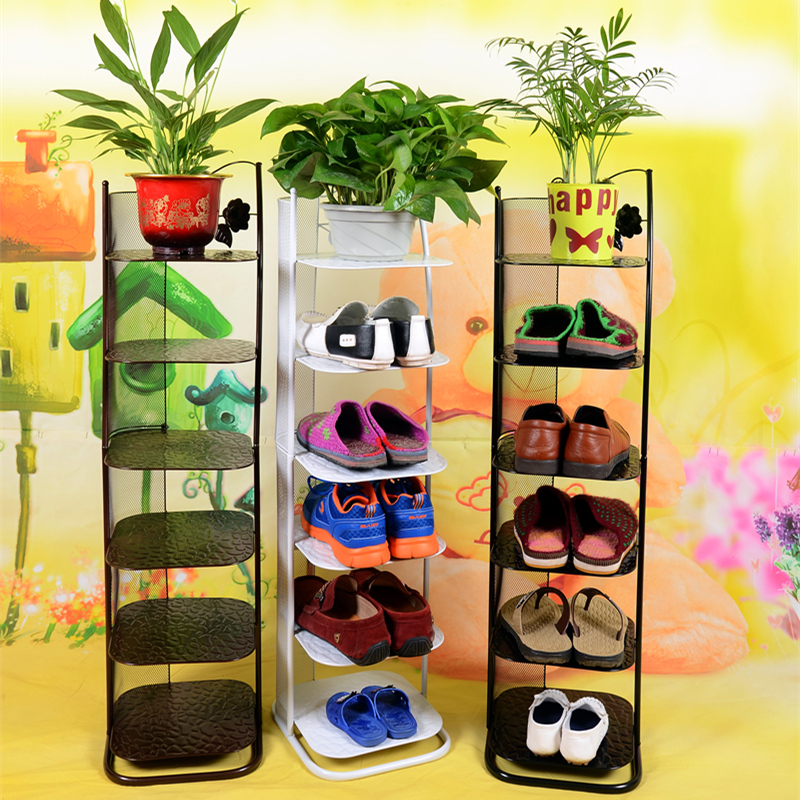 Continental Iron Simple shoe rack multilayer living room floor storage compartment Habitat dust child<br><br>Aliexpress