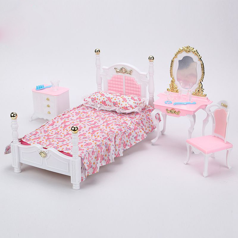 New Design Furniture Cozy Cottage Sweet Dream Bed Room For Barbie Doll  House Toys For Girl. Wholesale Barbie Dolls Cottage