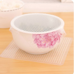 Free Shipping Hot Silicone Plastic Wrap hot Convenient Food Fresh Keep Kitchen Clean Tools(China (Mainland))