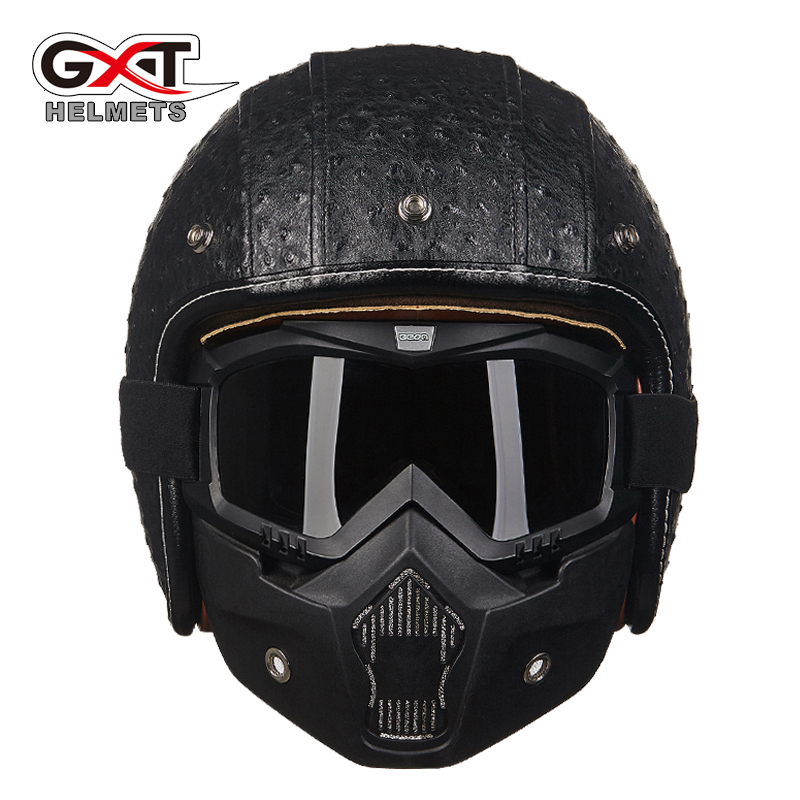 gxt casque capacete 3 4 open face retro motorcycle helmet de motocicleta vintage jet pilot moto. Black Bedroom Furniture Sets. Home Design Ideas