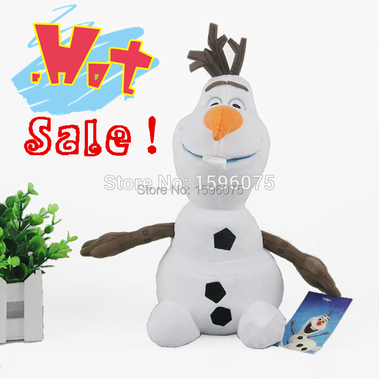 1 pcs 23cm olaf 23cm Snowman Plush Toys Dolls Stuffed Accessories princess Elsa anna plush doll free shipping for kids gifts(China (Mainland))