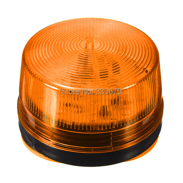 12V Security Alarm Strobe Signal Warn Warning Siren Orange LED Lamp Flashing Light 7.2cmX 4cm Sensors Alarms(China (Mainland))