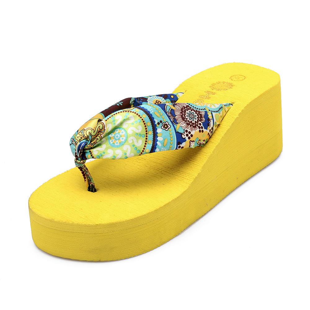 Embroidered sandals Wedge   Platform Sandals Beach Swimming Women Ladies  Summer Shoes  Flip Flops  Paltform Shoes   Hot Sale<br><br>Aliexpress