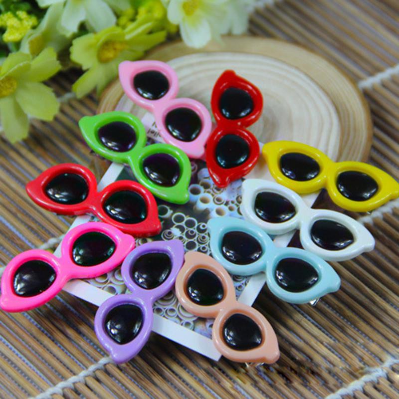 Wholesale Dog Hair Accessories 10 Colors Small Dog Sunglasses Bows, Summer Dog Grooming Bows, Pet Dog Hair Clip Free Shipping(China (Mainland))