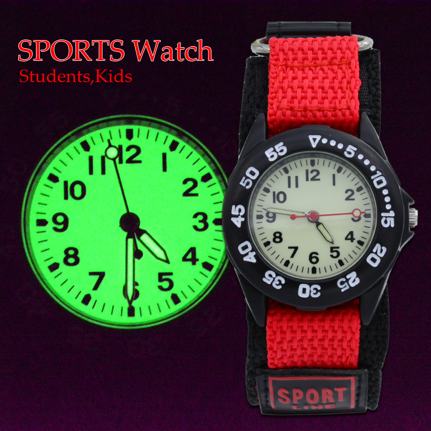 Гаджет  New Supper Light Luminous Quartz Kids Sports Watch Canvas Nylon Strap Military Wristwatch For Boy Students Christmas Gifts None Часы