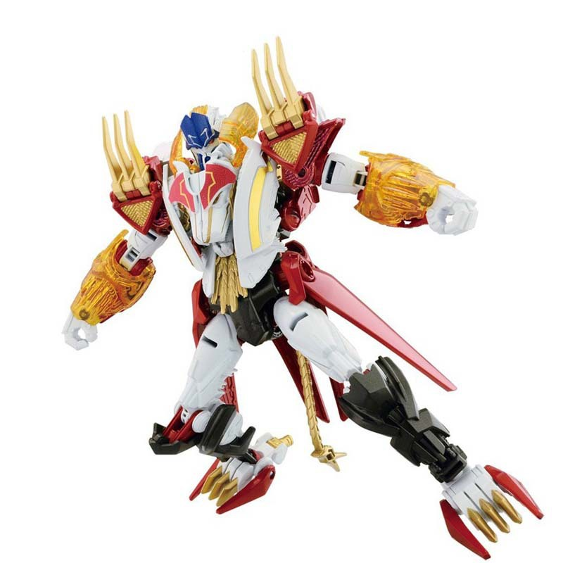 Limited edition Transformation 4 white king lion Optimus Prime animal robot figure classic toys for boys birthday gift AM28(China (Mainland))