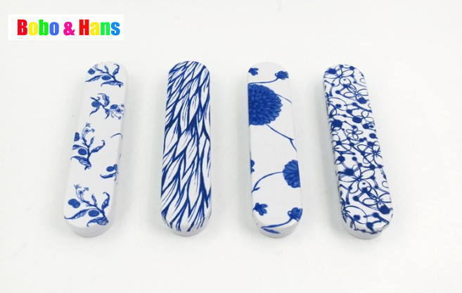 New blue flower style Tin Pencil case / metal Pen box / Fashion / Wholesale(China (Mainland))
