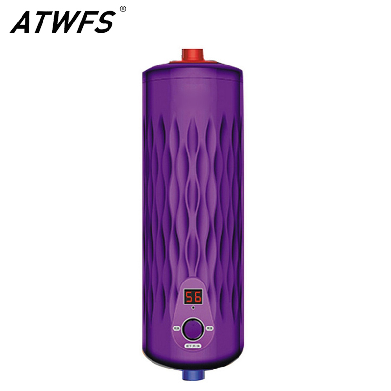 ATWFS Tankless Water Heater 220V 5500W Thermostat Digital Electric Heater Kitchen & Bath Instant Hot Water Heaters(China (Mainland))
