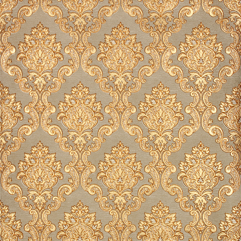 3d gold luxury wallpaper 3d damascus mural wall paper roll for Gold 3d wallpaper