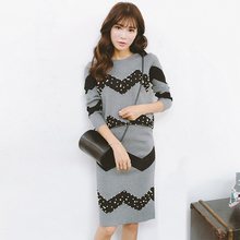 Winter 2pcs Set Women Sexy Beaded Waves Nail Sweater Jacket Wrap Hip Skinny Skirt Winter Suits for Women(China (Mainland))