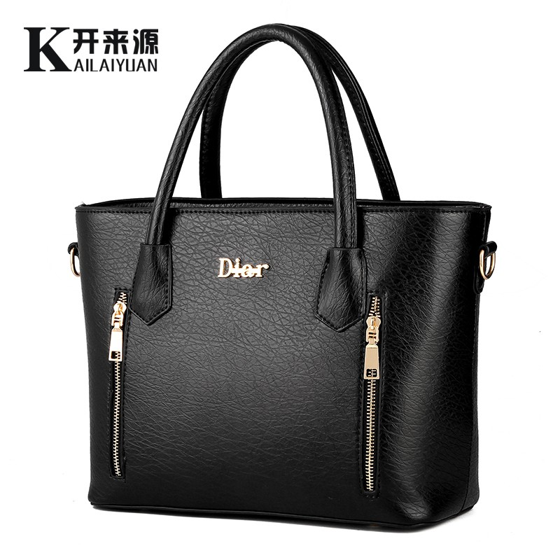 KLY 100% Genuine leather Women handbags 2017 New handbag patent leather stereotypes handbag fashion handbags Shoulder Messenger(China (Mainland))