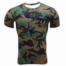 Buy New Arrival Camouflage Military Men T-Shirts Fitness Tights Skull Shirts Crossfit Workout Compression Elastic Male Fitness Shirt for $11.87 in AliExpress store