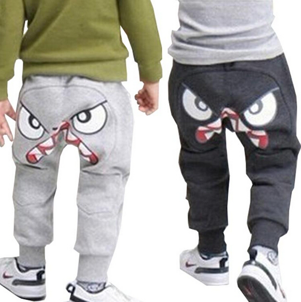 Retial Free shipping New Fashion Popular Kids Boys Girl Unique Clothes Harem Pants Trousers Cartoon Kids SIZE 3-7Y(China (Mainland))