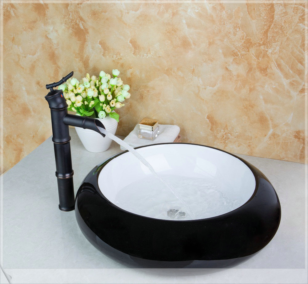 TD30208655-1 Black Artistic Wash Basin Counter Hand Paint Color Washbasin Sink Brass Mixer Tap Faucet Basin pop square<br><br>Aliexpress