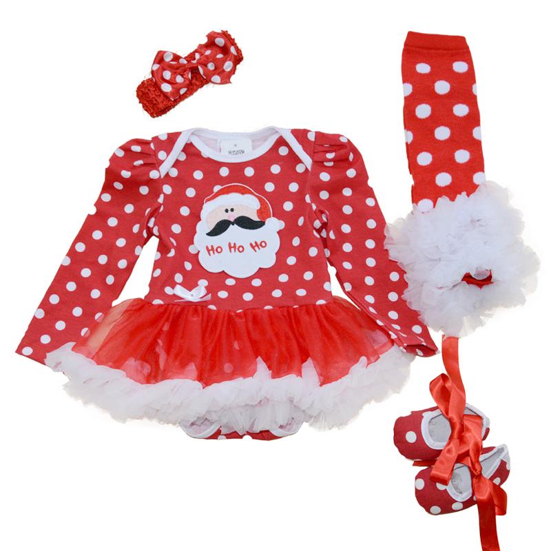 Baby Girl clothes bodysuit With Tutu Dress Set clothing 0-3-6-12-18m bodysuit+shoes+legging warm Santa Claus for Christmas<br><br>Aliexpress