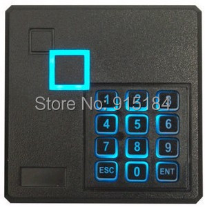 wiegand reader Access Control IC Card Reader Keypad Security Door Wiegand 26 RFID 13.56MHZ+test nfc tag(China (Mainland))