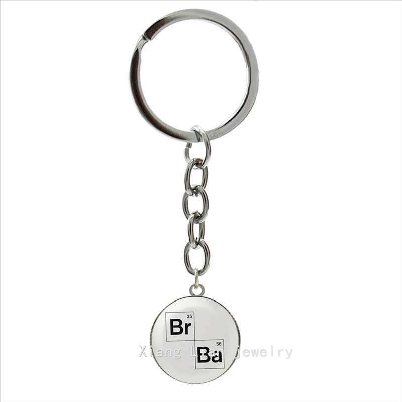 Attractive trendy silver jewelry keychain plated case for Breaking Bad art photo pendant ring bijoux key chain father gift NS519(China (Mainland))