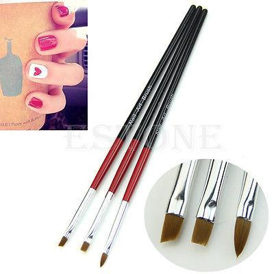 3 Шт. Мягкий Профессиональный Draw Pen УФ-Гель Краска Ногтей Кисти Ногтей Маникюр Инструмент