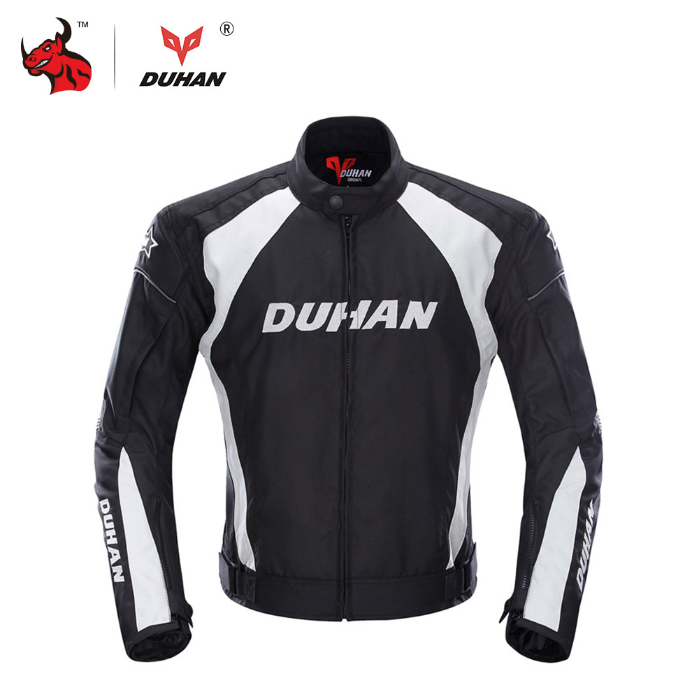 DUHAN Men's Motorcycle Windproof Riding Off-Road Racing Sports Jacket Clothing With Five Protector Guards(China (Mainland))