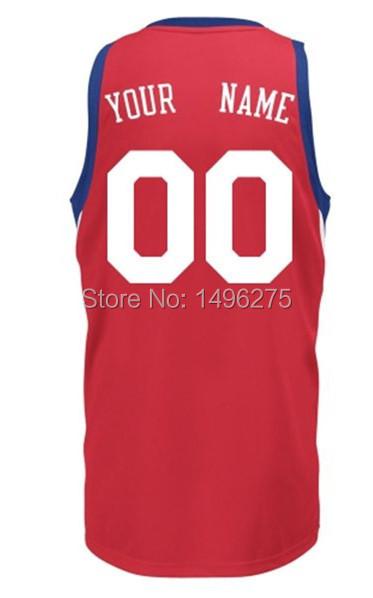Philadelphia customized jersey Iverson, Chamberlain personalized custom-made Basketball jersey Customize player name and number(China (Mainland))
