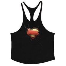 Брендовая одежда для фитнеса 3D тренировочная майка Супермена Топ для бодибилдинга майка для мускулистых мужчин Тяжелая атлетика майка без ...(China)