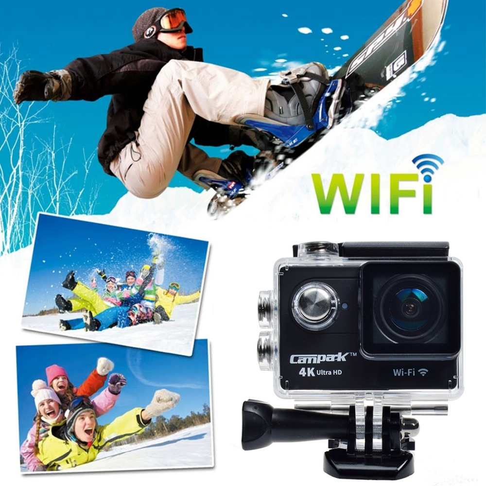 Campark 4K HD Outdoor Sport Action Camera Waterproof 1080P 60fps Diving Sport Cam wireless Action Camera US/UK stock(China (Mainland))