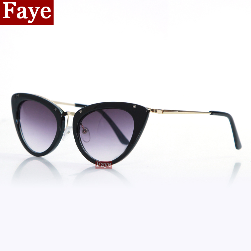 2015 New Style Fashion Sunglasses Cat Eye Hot Selling Vintage Women Sun Glasses Brand Design