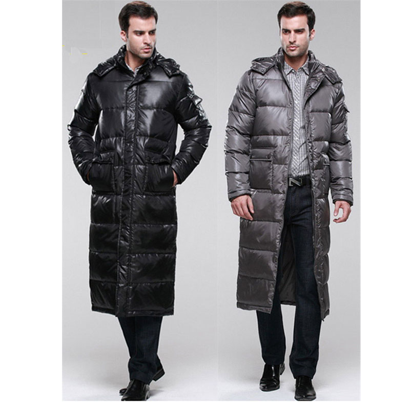 Fashion Men White Duck Down X Long Coat With Detachable Hooded Collar,Duck Down Jacket Men Park Outwear Retail Wholesale HD136(China (Mainland))
