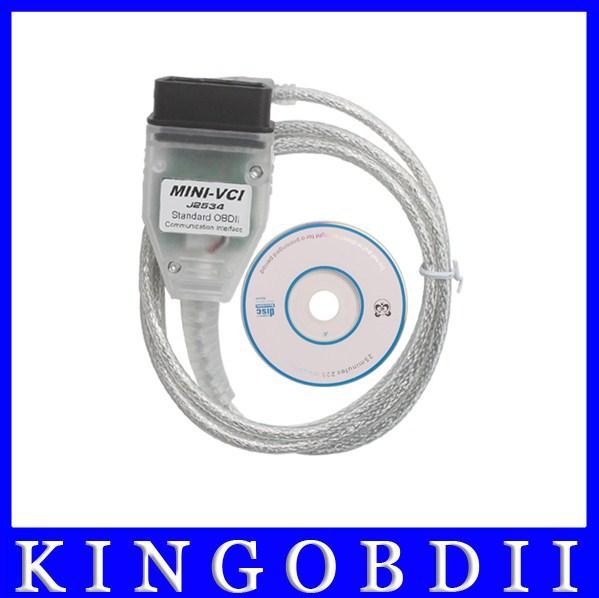 10pcs/lot Free Shipping via dhl!!MINI-VCI J2534 TOYOTA TIS Techstream MINI VCI OBD2 diagnostic tool,toyota diagnostic equipment(China (Mainland))