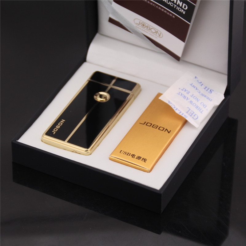 Environmental protection arc pulse lighter USB charge High-end men's gift lighters Windproof match The cigarette lighter(China (Mainland))